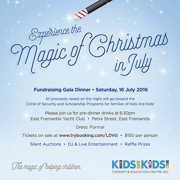Kids Are Kids! Gala Dinner Invite